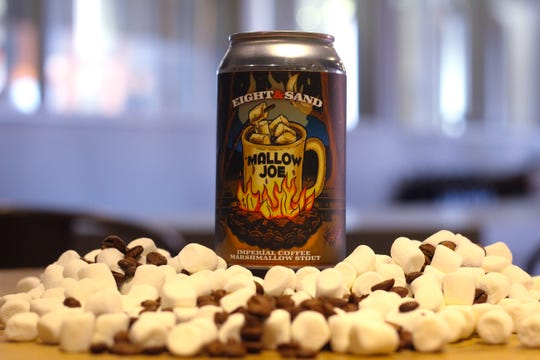Mallow Joe Mallow is a dark Imperial stout is infused with gelatin-free marshmallow creme and coffee.