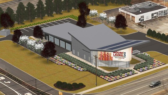 This is a rendering of Mount Laurel's new EMS building planned for a location along Route 73 South. The cost of the building is approximately $3.8 million but the town will not have to pay for it due to a deal with the redeveloper, Catalyst Experiential.