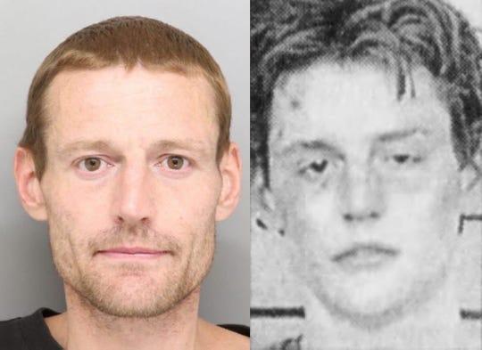 Christopher Mushrush in 2019 and 1998
