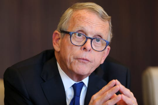 Ohio Gov. Mike DeWine meets with The Cincinnati Enquirer's editorial board, Friday, Oct. 18, 2019, in downtown Cincinnati.