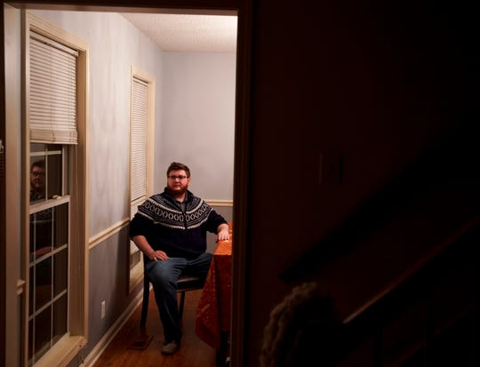 Matthew Mergens, a Clarksville resident who has had multiple problems with getting surprise bills after emergency care at Tennova, sits for a portrait at his home in Clarksville, Tenn., on Wednesday, Oct. 16, 2019.