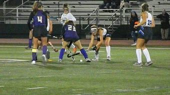 The Metuchen field hockey team won its third-straight GMC Tournament title with a 2-1 double overtime win over Monroe on Oct. 17, 2019.