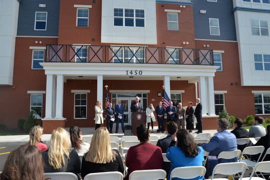 A ribbon-cutting ceremony marked the opening of Greens at Avenel, a new affordable housing community for families and special needs residents, in the Avenel section of Woodbridge.