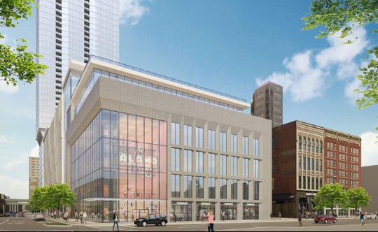 A rendering of Alamo Drafthouse Cinema at The Fifth in downtown Des Moines.
