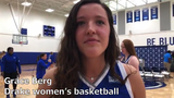 Drake's Grace Berg talks about transferring home and fitting in with the rest of her new teammates.