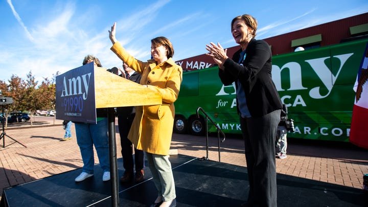 Amy Klobuchar is targeting Iowa's Trump counties in 3-day 'For All of America' bus tour