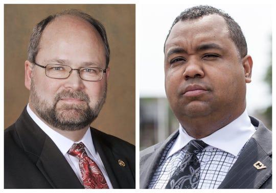 Left: Arlan Meekhof, R-West Olive. Right: Michigan State Senator Coleman Young II