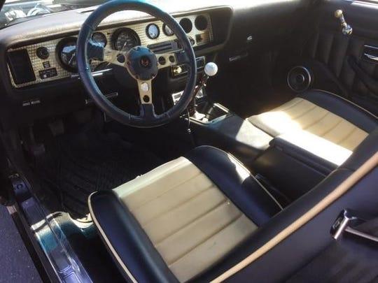 The 1978 Pontiac Firebird Trans Am's interior.
