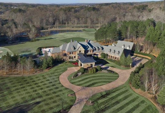 An aerial view of John Smoltz's home in Milton, Ga.