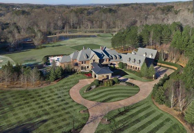 An aerial view of John Smoltz's home in Milton, Ga.