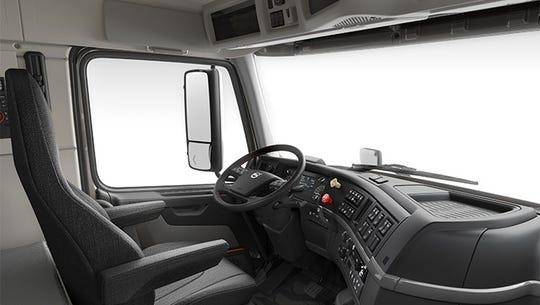 The interior of the Volvo VNL 760.