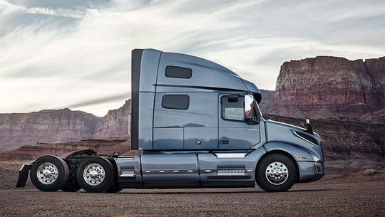 """Bloomberg is prediction a """"sharp deterioration in 2020 profitability"""" for Volvo Group. The Volvo VNL 760 is shown."""