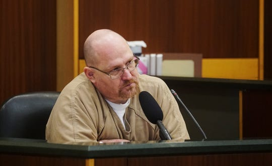 Curtis Wayne Wright Jr. testifies Friday, Oct. 18, 2019. He is testifying for the state in the Jimmy Rodgers trial. Rodgers is accused of killing Dr. Teresa Sievers.