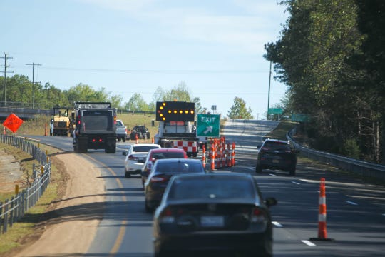 Construction takes place on US 123 from Central to Clemson, Oct. 18, 2019.
