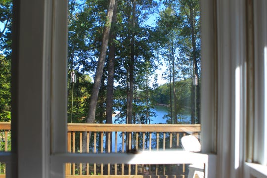 A view of lake Hartwell from Mary and Don Brock's Airbnb in Townville, Friday, Oct. 18, 2019.