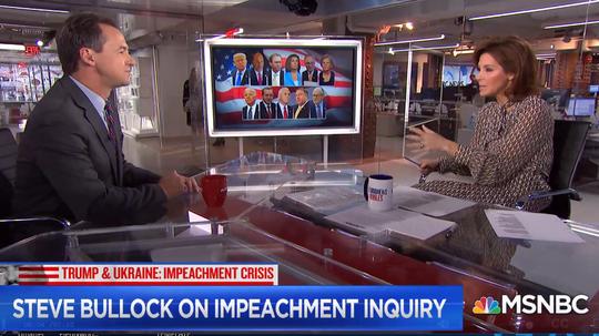 Gov. Steve Bullock talks Friday with MSNBC's Stephanie Ruhle.