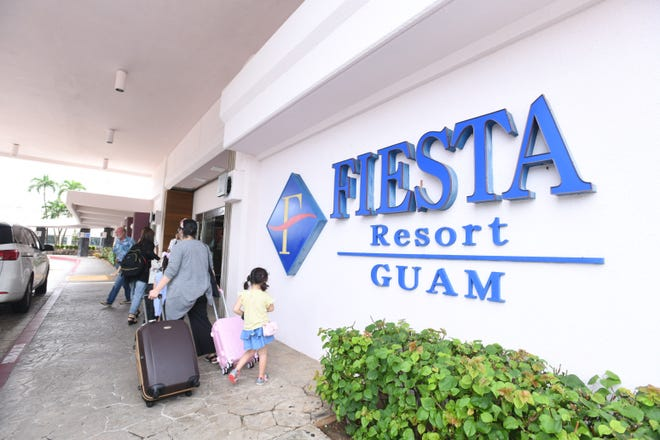 Visitors arrive at the Fiesta Resort in this Oct. 18, 2019, file photo. The resort will undergo a multi-million-dollar refurbishment and become the Crowne Plaza Resort by early 2021.