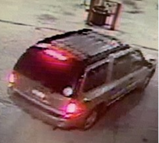 This gray or silver 2002-2009 GMC Envoy struck a pedestrian on the south side of Indianapolis Friday morning and fled, police say.