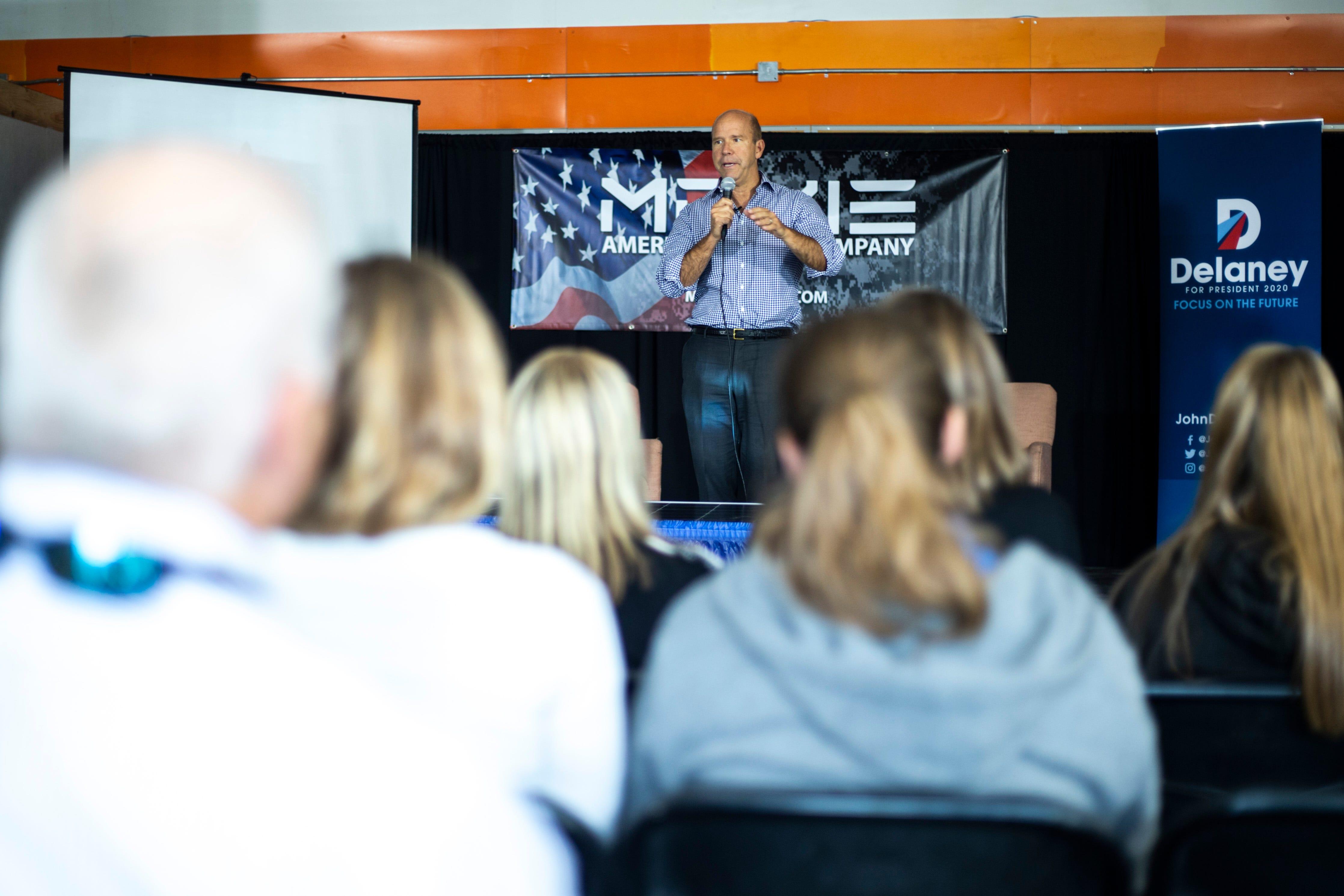Photos: John Delaney visits with entrepreneurs in Iowa