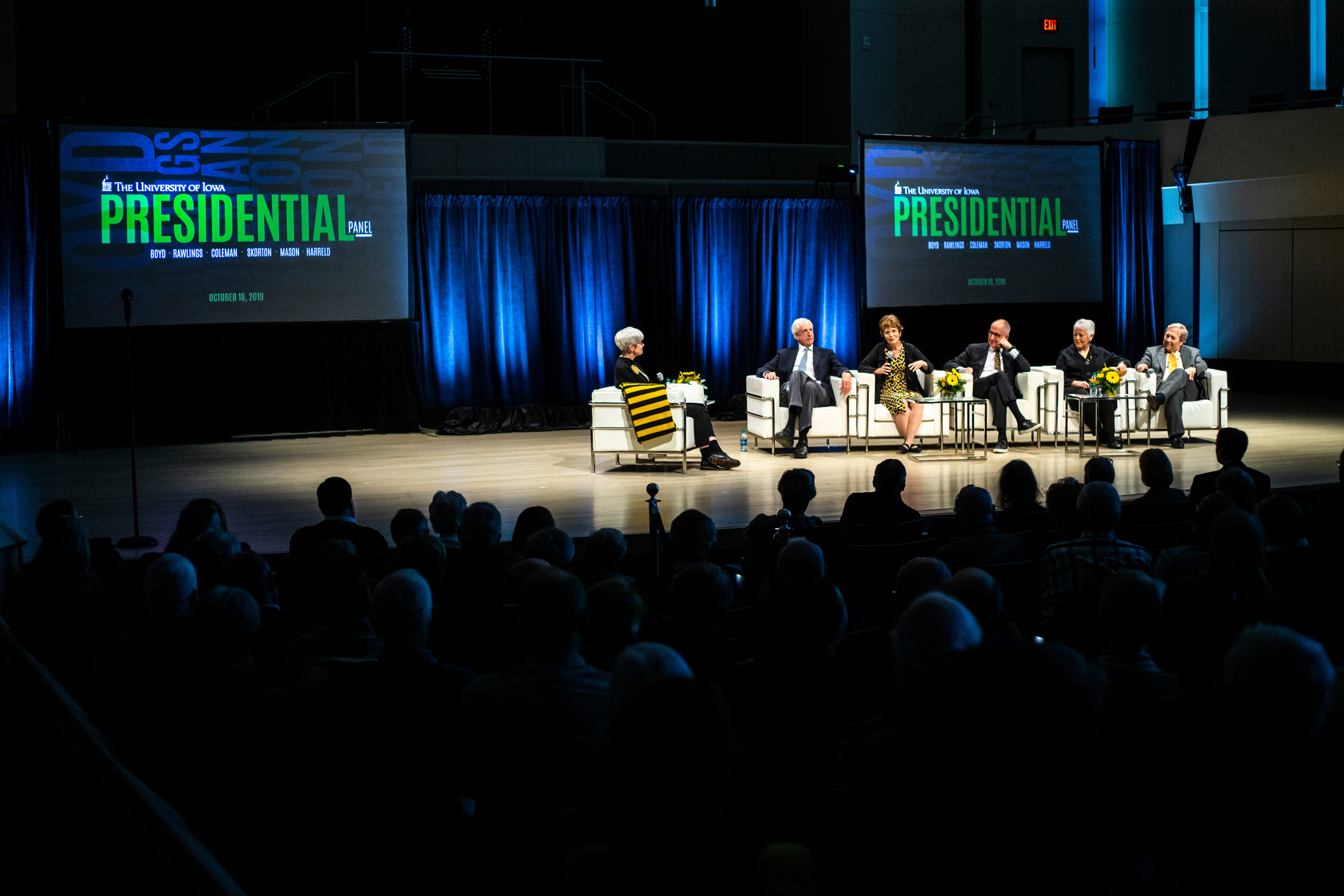 Photos: University of Iowa presidents speak at Homecoming forum