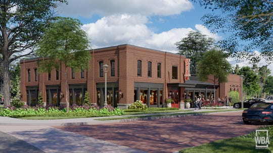 A schematic of what the Half Shell Oyster House restaurant will look like after construction. The restaurant is one of several commercial and residential units that will be under construction soon as part of a $50 million mixed-used development in downtown Madison.