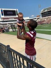Mississippi State junior cornerback Cameron Dantzler has been delighted by the presence of his son, Cameron Jr., at multiple football games this season.