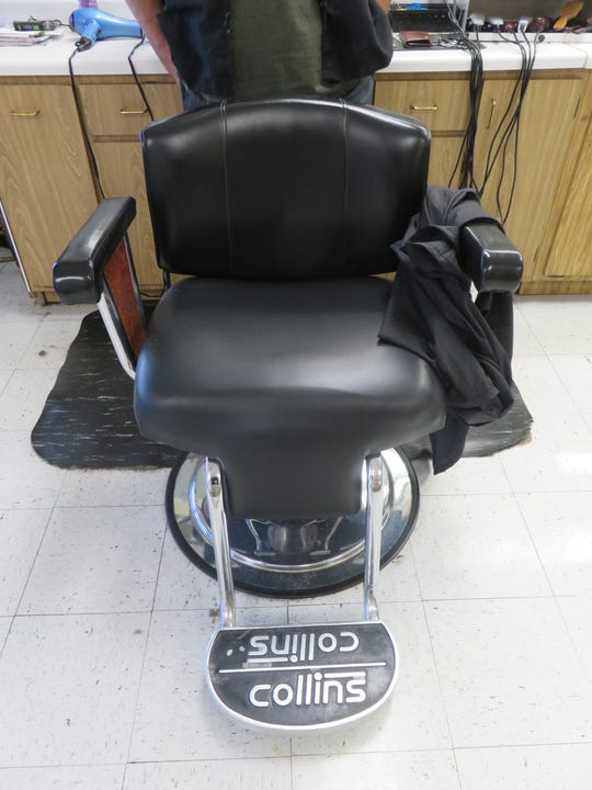 The reupholstered barber chairs are the third ones the Western Plaza Barber Shop has had since it opened in the 1960s.