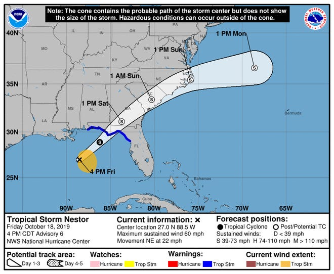 Tropical system continues strengthening as it targets Gulf Coast.