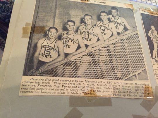 LSU quarterback Joe Burrow's grandfather, James Burrow of Amory, Miss., was Mississippi State's starting point guard in 1950-51 and 1951-52 and played against guard Joe Dean and center Bob Pettit of LSU.