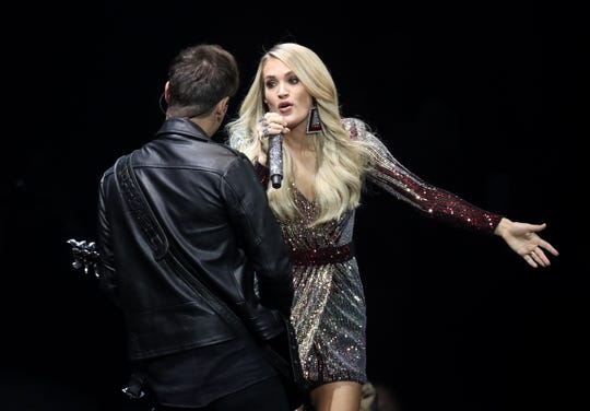 Carrie Underwood performs at the KFC Yum Center on Oct. 17, 2019.