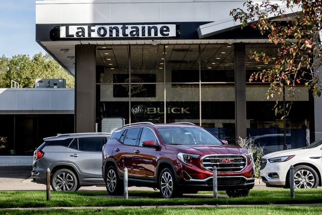 The LaFontaine Buick GMC dealership located on south Pennsylvania Avenue photographed on Friday, Oct. 18, 2019, in Lansing.
