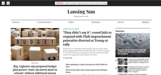 Lansing Sun is one of dozens of websites pitching themselves as local news outlets to crop up in Michigan.
