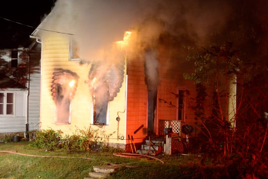 Firefighters battled a fire early Friday morning in the 100 block of West Blanche Street.