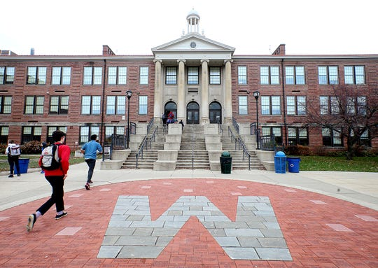 Outrage is growing among members of Madison's black community after West High School security guard Marlon Anderson was fired for what he said was explicitly telling a student not to call him the N-word after the student repeatedly called him the slur. The school is pictured in a Monday, Nov. 12, 2018, file photo.