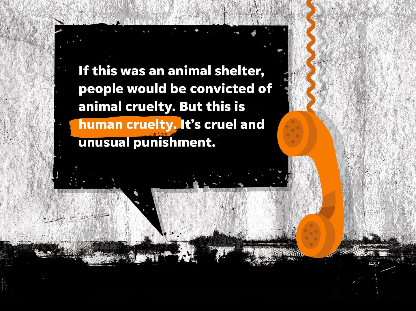 """""""If this was an animal shelter, people would be convicted of animal cruelty. But this is human cruelty. It's cruel and unusual punishment."""""""