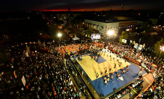 A look at the Tipoff at Toomer's event from overhead.