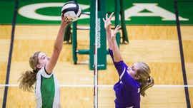 Yorktown volleyball versus Central