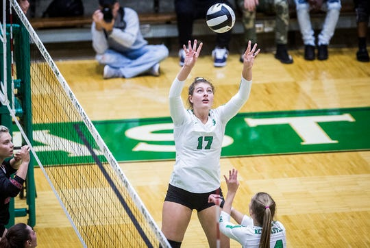 New Castle faces off against Richmond at New Castle High School Thursday Oct. 17, 2019.