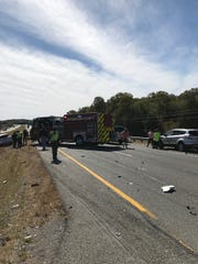 Multiple agencies responded to a fatal crash in Christiana Friday afternoon.