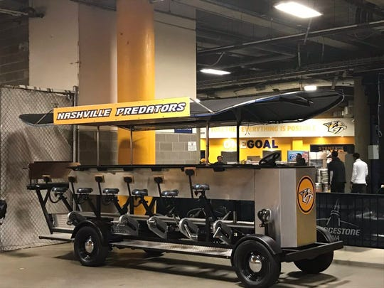 The Pedal Tavern at Bridgestone Arena no longer will be used on the ice.