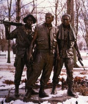 "The ""Three Soldiers"" statue at the Vietnam Veterans Memorial in Washington, D.C., is sculptor Frederick Hart's most visited piece."