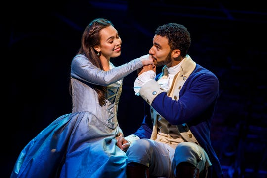 """Julia K. Harriman and Austin Scott in the touring company of """"Hamilton"""" coming to Southwest Florida."""