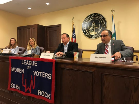 Glen Rock mayoral and council hopefuls prepare for a candidate forum Thursday, October 17.