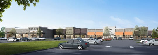 An artist's rendering of The Parke at Hamburg, a new shopping center being constructed on Hamburg Turnpike in Wayne.