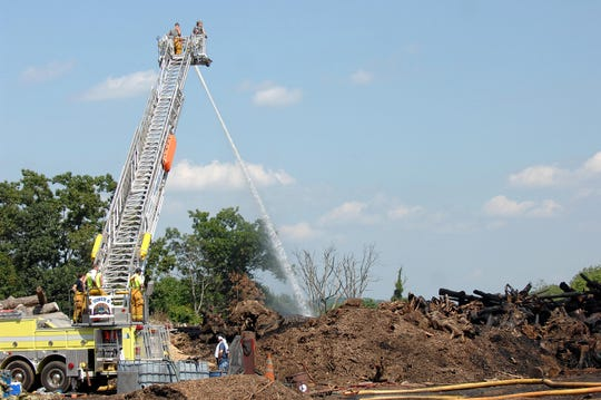 A July 17, 2013 brush fire was one of several that summer at West Milford's recycling center.