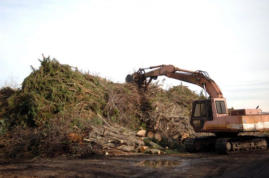 On Nov. 15, 2012, West Milford's recycling center is flooded with debris from the cleanup following Superstorm Sandy.