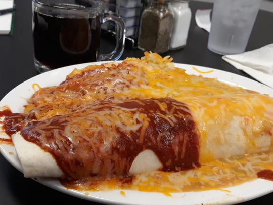 The Spicy Carne breakfast burrito at Weck's. Customers can choose between carne adovada or carnitas.