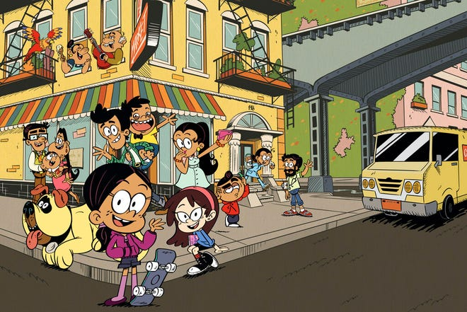 """This image released by Nickelodeon shows a scene from the animated series """"The Casagrandes,"""" featuring a multigenerational Mexican American family."""