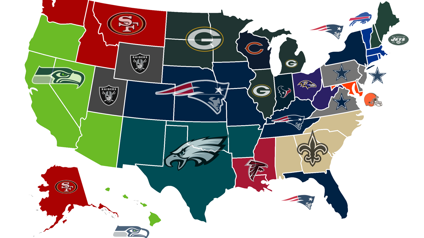 Nfl Hate Map Green Bay Packers In Study Of Teams Twitter Users Hate