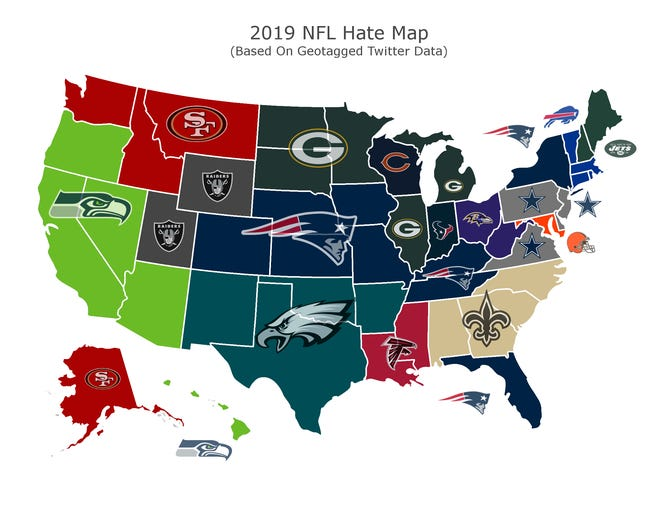NFL hate map